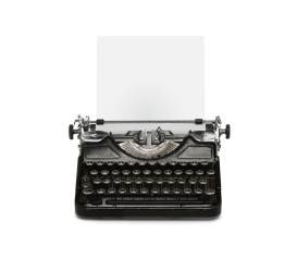 Old typewriter with copy space